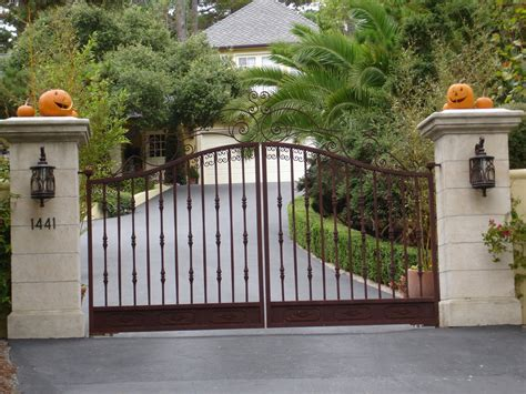 gate pillars for residential homes access control automatic gates arkansas fence guardrail