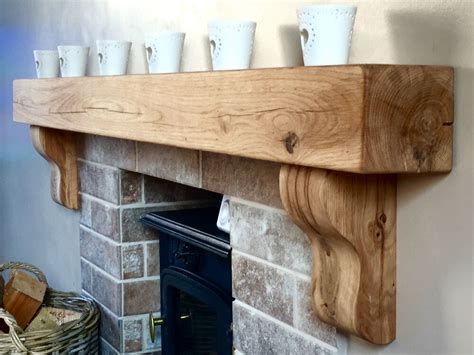 Wooden Corbels For Fireplaces by Solid Oak Beam Floating Shelf Fireplace Mantel Corbels