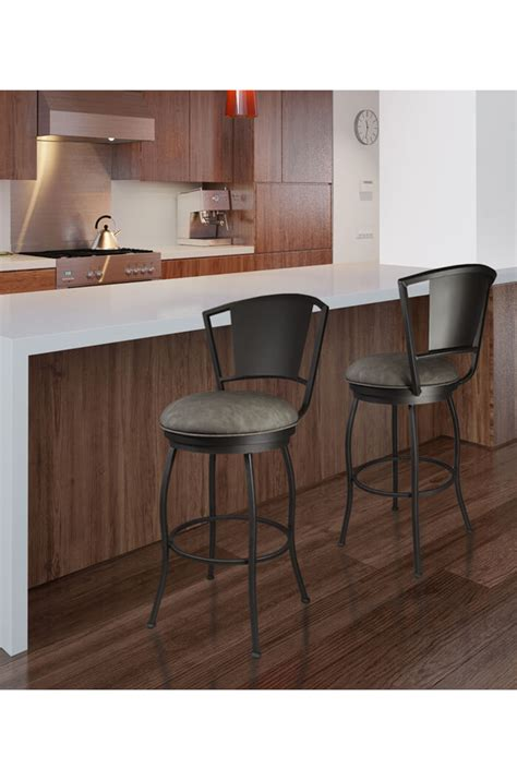 swivel bar stools for kitchen island callee bristol modern swivel stool in gray or bronze 9448