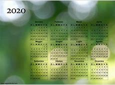 Calendario Fotografico da Stampare del 2020