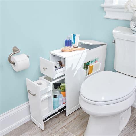 storage ideas for small bathrooms the space bathroom organizer hammacher schlemmer