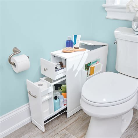 tight space bathroom organizer hammacher schlemmer