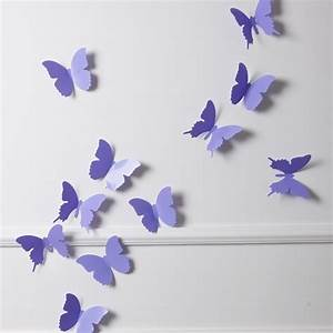 Schmetterlinge Als Deko : 3d schmetterlinge wanddekoration wanddeko wandtattoos ~ Lizthompson.info Haus und Dekorationen
