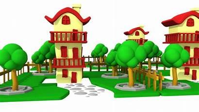 Cartoon Street Villa Hq