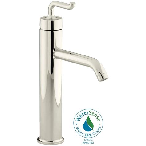 kohler vessel sink faucets kohler purist single handle kitchen vessel sink faucet in