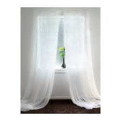 Rideaux Occultant Blanc Ikea by Ikea Lill Curtains Sheer Net White 2 Panels 110 X 98 Quot Each