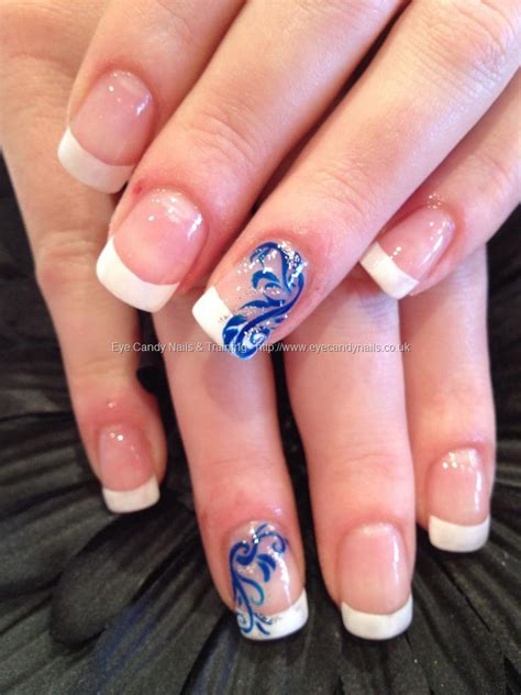 manicure with design top blue nail designs to suit your blue costumes easyday