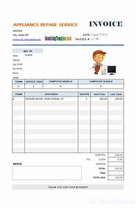 Bill Format For Computer Repair Service