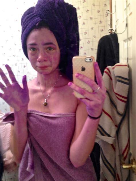 purple dye disaster edventuregirl