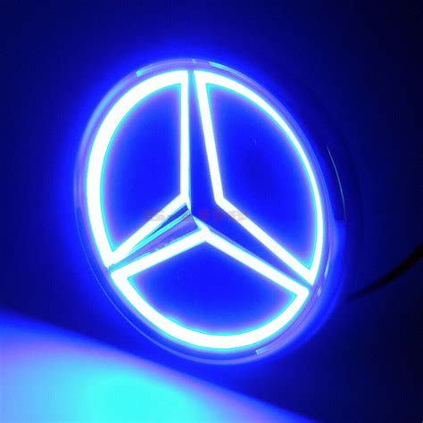 Mercedes logo png mercedes is the name of the most famous german car brand, which was established by karl benz and gottlieb daimler in 1926. 5D Car LED Tail Logo Lights Badge Emblem Light For Mercedes-Benz S350 S300L Blue   eBay