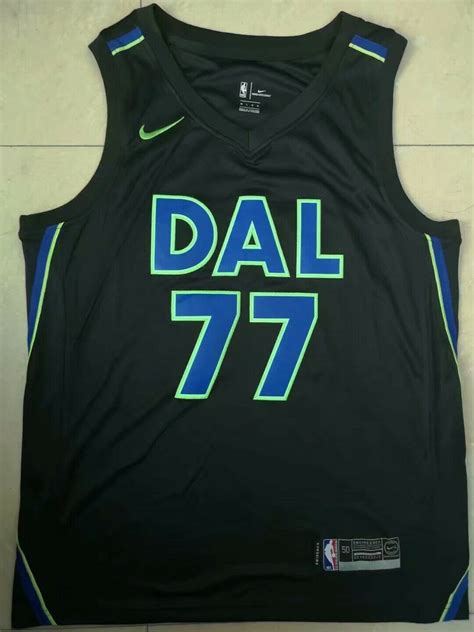 dallas mavericks  luka doncic black basketball jersey