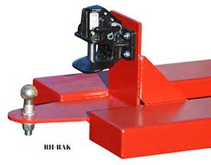 Carpet Barrow by Forklift Duo Towing Hitch With Automatic Rockinger