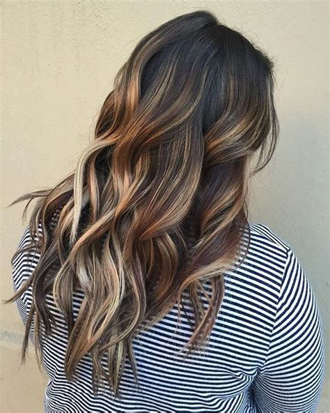dark brown hair with light brown tips picture of dark brown hair with honey and light brown