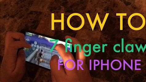 finger claw hud guide  iphone  ipadhandcam