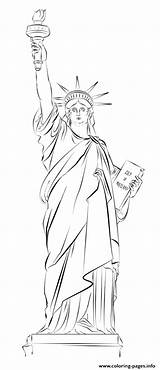 Liberty Statue Coloring York Drawing Sketch Draw Printable Tutorials Step Usa Drawings Supercoloring Cartoon Beginners Techniques Tattoo Sketches Dot Paintingvalley sketch template