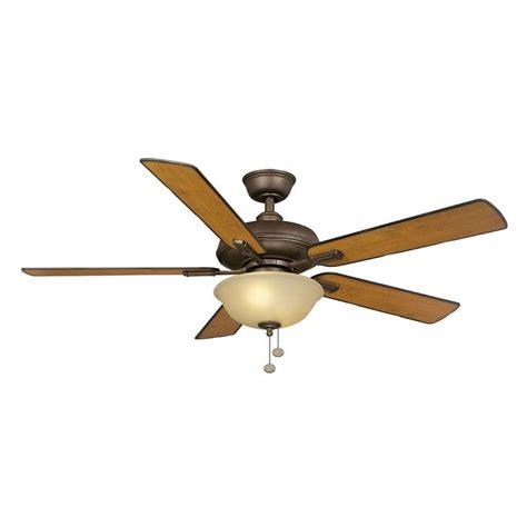 bronze ceiling fan light kit hton bay larson 52 in indoor oil rubbed bronze ceiling