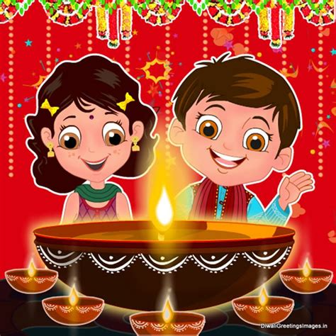 funny collection  cute diwali cartoon images