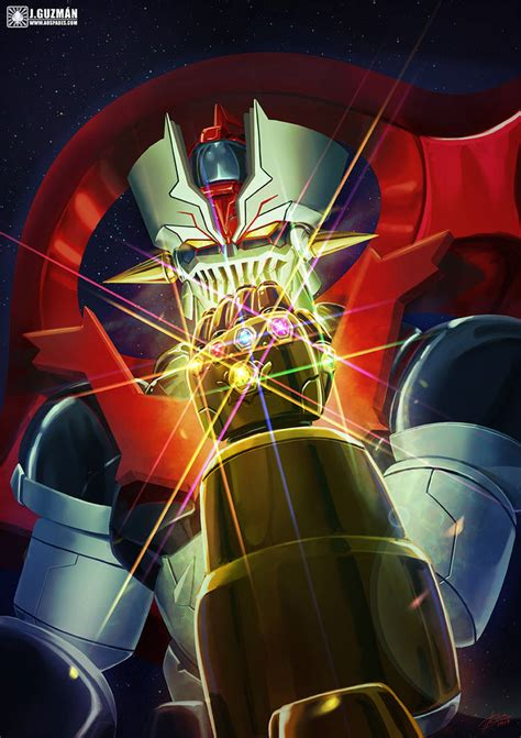 Mazinger Zero With The Infinity Gauntlet By Z3ros Mecha