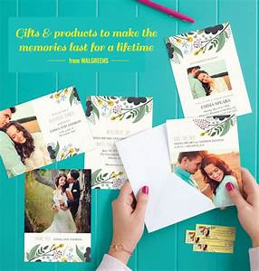 Print your own save the dates at walgreens green wedding for Walgreens personalized wedding invitations