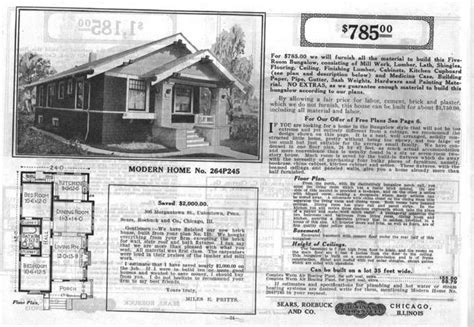 sears homes floor plans sears bungalow house plans for the home