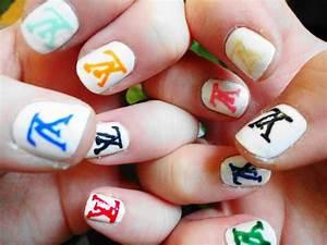 louis vuitton monogram nail tutorial without stickers