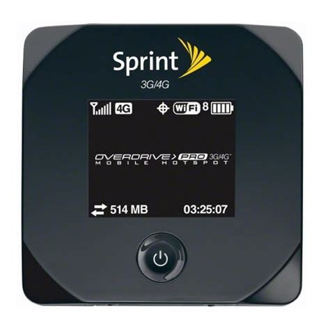 iphone hotspot sprint sprint s overdrive pro 3g 4g mobile hotspot lands on march