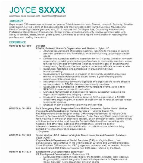 mental health resume exles community and