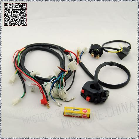 Wiring Harnes 200 250cc Electric Start Loncin by 250cc Ngk Spark Switch Solenoid Wiring Harness
