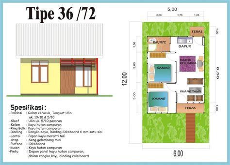gambar denah rumah minimalis type   sederhana