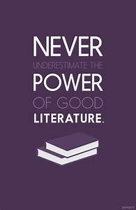 Over and Over A... Power Of Literature Quotes