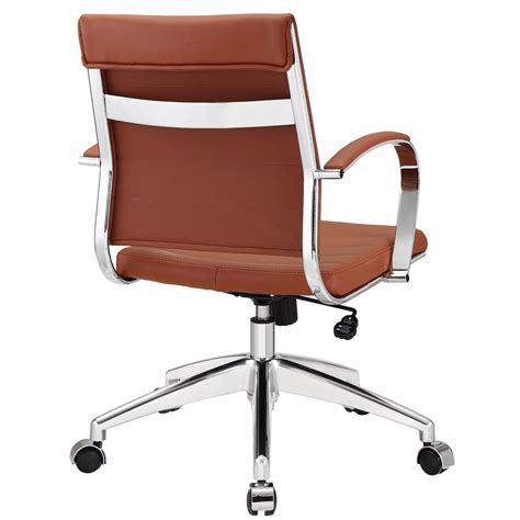 modway jive mid back office chair in terracotta beyond