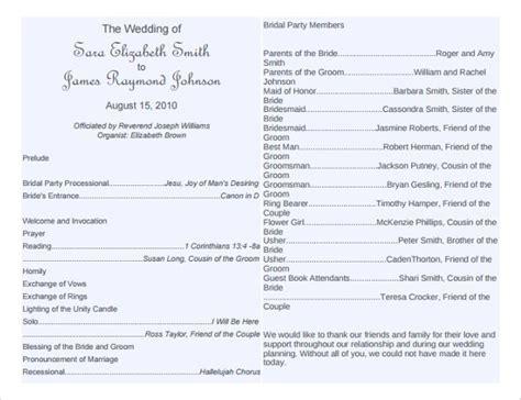 free wedding program templates wedding program template 64 free word pdf psd documents free premium templates