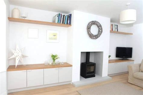 Wall Units Mesmerizing Living Room Storage White Wooden