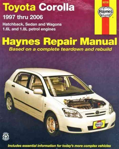 car service manuals pdf 1999 toyota camry electronic throttle control toyota corolla 1997 2006 haynes owners service repair manual 1563926687 9781563926686 haynes