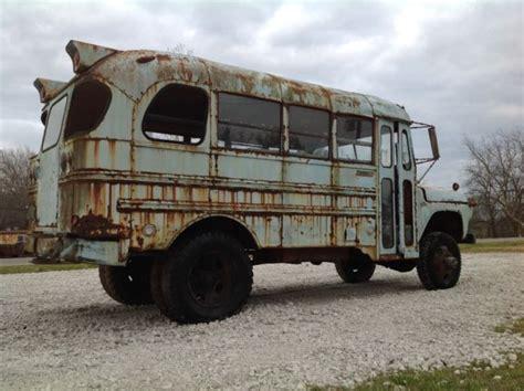 1960 napco mercury school rat rod 4x4 food truck patina