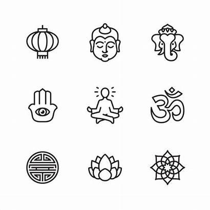 Zen Pixel Perfect Asia Meditation Icons Buddha