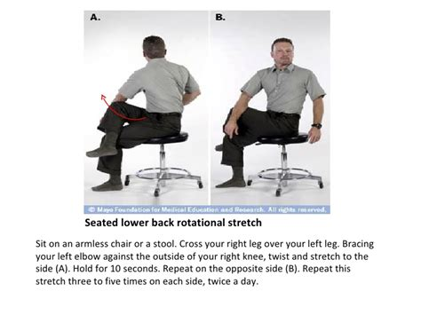 exercise for low back mayo clinic