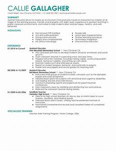 resume examples for it professionals best assistant educator resume example livecareer