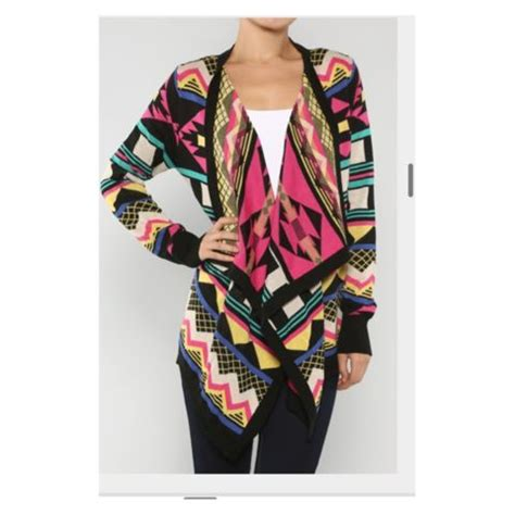 colorful cardigans colorful aztec cardigan my style