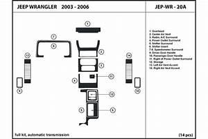 2003 Jeep Wrangler Dash Kits