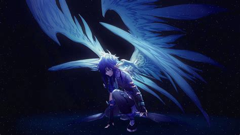 Anime Wings Wallpaper - 1366x768 blue with wings anime 1366x768 resolution