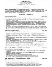 sales account manager resume templates sle resume format resume free template