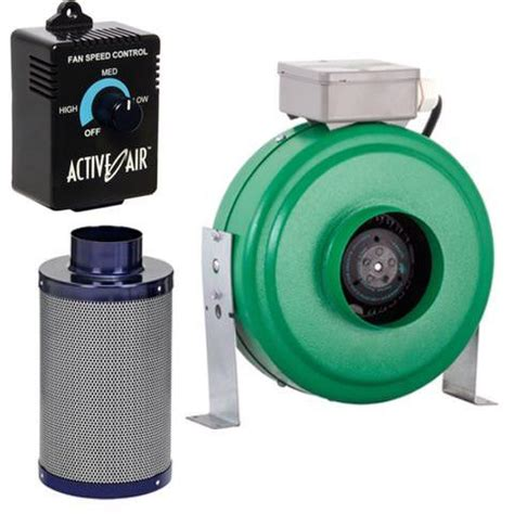 small carbon filter fan combo active air 4 quot inline fan with carbon filter and speed