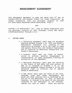 management agreement sample With general manager contract template