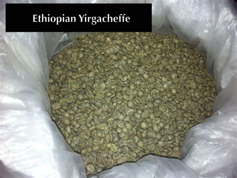 Features subtle fruity undertones and a baker's chocolate finish. Ethiopian Yirgacheffe grade 2 washed green coffee beans online.
