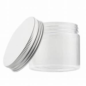 Bote de plástico transparente con tapa 150 ml