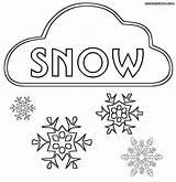 Snow Coloring Snowing Snowy Cloud Colorings Popular sketch template