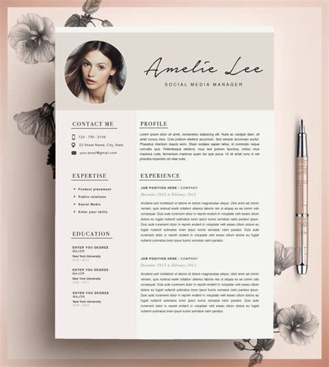 creative resume template cv template instant by cvdesignco