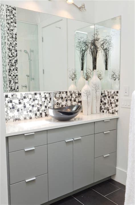 grey black white bathroom modern minimal black white and grey tile bath