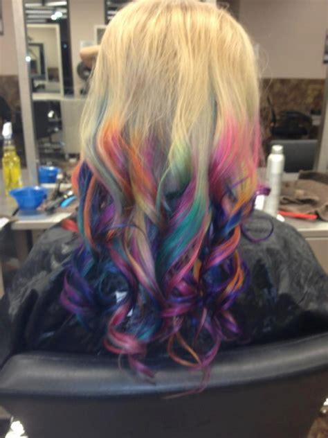 Rainbow Dip Dyed Hair нαιя Pinterest Dip Dyed Hair